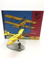 En Avion Tintin le biplan jaune l'ile noire  N11 + livret