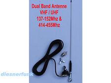 DUAL BAND ANTENNE 53cm VHF UHF AMATEURFUNK BETRIEBSFUNK TAXIFUNK Freenet PMR446