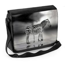 Zebra With Baby Laptop Messenger Bag - Zebras Wildlife