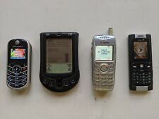 Lot of 4 Working Vintage Cell Phones Pda Motorola Sanyo PalmPilot Good Condition