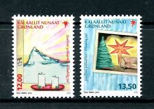 Greenland 2016 MNH Christmas 2v Set Mountains Candles Christmas Tree Stamps
