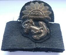 early bullion P&O shipping line cap badge on a/f cap band