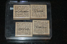 Stampin up Lexicon of Love Stamp Set of 4 Retired 2005 - Candy Bar Bags