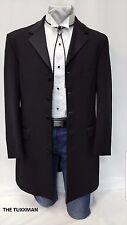 43 S Mens Black Western Tuxedo Cowboy Style Rodeo Vaquero Jacket Victorian Bolo