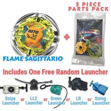 Flame Sagittario BB-35 Beyblade w/ Free Launcher & Tips / Parts / Card Gift Pack