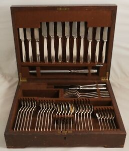 ROCHESTER Design ELKINGTON & CO Silver Service 49 Piece Canteen of Cutlery