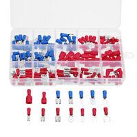 Crimpare Isolati Elettrico Terminale Capicorda Connettore Spade Kit 140pcs