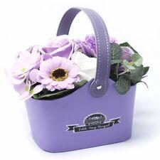 Lilac Soap Flower Basket Gift / Fast Free delivery UK / 18cm / Handmade