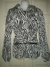 #1127 Woman's Hooded Rain Slicker Coat Jacket S Peck & Peck S Packable