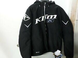 NEW KLIM MEN'S XL BLACK/WHITE INSTINCT SNOWMOBILE JACKET PART# 4040-003-150-000