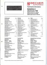 Becker Original Service Manual für Bavaria C electronic  728