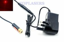 Industrial 5mw 650nm Red Laser Diode DOT Module 13x42mm w/ 5V Power Adapter