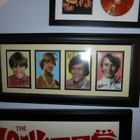AUTOGRAPHED all 4 MONKEES Jones Tork Nesmith Dolenz Signed Rhino postcard set