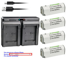 Kastar Battery Dual Charger for Canon NB-9L CB-2LB & Canon PowerShot N2 Camera