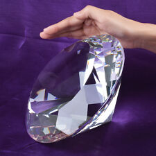 200mm Clear Crystal Diamond Paperweight Wedding Centerpieces Gifts + Suncatcher
