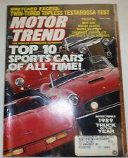 Motor Trend Magazine Top 10 Sports Cars & Bmw 535i April 1989 022315r2