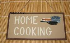 Wood Sign Plaque Decor Country Primitive HOME COOKING