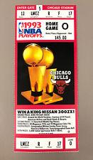 Chicago Bulls 1993 NBA Playoffs Ticket Stub Chicago Stadium Michael Jordan