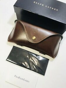 Polo Ralph Lauren Sunglasses  Eyeglasses Hard  Leather Case With Cloth Genuine