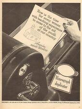 1942 WW 2 Era AD A.B. Dick Mimeograph Duplicator America Needs Teachers ! 070916
