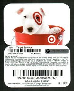 TARGET Bullseye in a Red Bucket 2016 Gift Card [ 0216 1977 ] ( $0 )