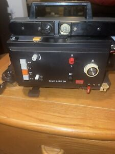 ELMO K-120 SM Dual/Super 8MM Telecine Movie Projector Made In Japan AS IS