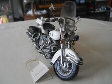 FRANKLIN MINT HARLEY DAVIDSON BIKE EDITION POLICE MOTORCYCLE 1:10 W/ TAG