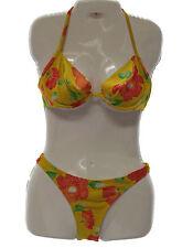 NIkos & Roxy Swimwear Exclusive Design Yellow Floral Print Bikini Made in France