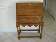 "Ethan Allen ""Circa1776"" Maple Drop Lid Slant Front Secretary Desk"