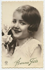 1930s Child Children Cute LITTLE GIRL French photo postcard
