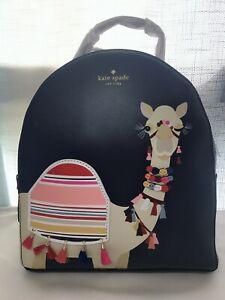 NWT Kate Spade Camel Spice Things Up Sammi Backpack Blue Leather $399 WKRU5142