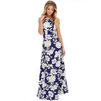 Women Summer Boho Long Maxi Evening Party Halter Dress Beach Dresses Sundress