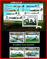 Gibraltar 2011 SPITFIRE AIRPLANES + S/S MNH unmounted, Sir!