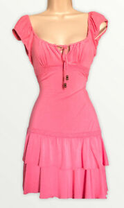 Jane Norman Vintage Y2K Pink Coral gypsy mini Party 00s dress 12 Summer Holiday