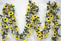 Sunflower Garland Silk Flowers Wedding Arch Backdrop Table Runner Artificial