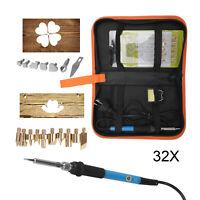 32Pcs 60W Wood Burning Pen Set Soldering Iron Kit Iron Electric Burner Hobby Kit