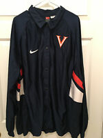 Virginia UVA Cavaliers Basketball Team Issued Nike Button Warmup Jacket 2XL