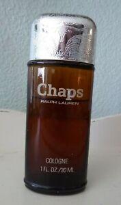 Vintage CHAPS (Longhorn - Silver) Ralph Lauren Cologne (1.0 oz) - 75% Full