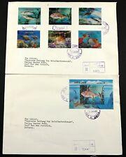 Umm al-qiwain 1972 peces 3-d 690-95 bloque 57 fishes lenticular reko-fdc Germany