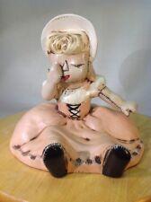 Vtg Rare 1964 California Pottery Little Miss Muffet Nursery Rhyme Porcelain