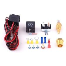 200 Degree Electric Fan Thermostat Sensor Temperature switch Relay Kit