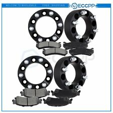 ECCPP 4Pcs Wheel Spacers 8pcs Front and Rear Disc Brake Pads For Chevrolet Tahoe