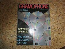 December 1985, THE GRAMOPHONE, Claudio Abbado, Andrei Gavrilov, Emil Gilels...