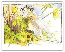 Affiche BD Régis LOISEL Peter Pan Fée Clochette La pose 950ex 24x30 cm