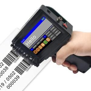 600DPI Handheld Inkjet Printer Ink Barcode Label Date Logo QR Coder Touch Screen