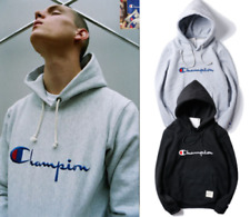 New champion letters Men's Pullover Hoodie unisex Cotton Hoodies Hoody teenagers