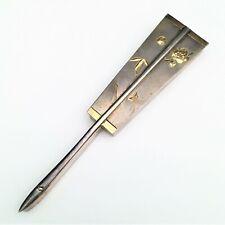 1868-1912 Japanese Jungin Silver Ogi Fan Shaped Trinket Box