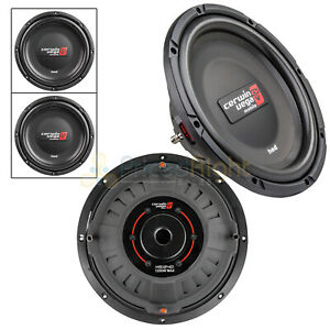"""2 Dual 12"""" Shallow Subwoofer 4 Ohm 1200W Max Power HED Series Cerwin Vega HS124D"""