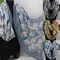 Women Fashion Animal Scarf Zebra Print Ladies Soft Long Shawl/Infinity Scarf New
