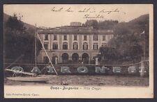 COMO CITTÀ 125 BORGOVICO - VILLA CRESPI - LAGO Cartolina viaggiata (1905 ?)